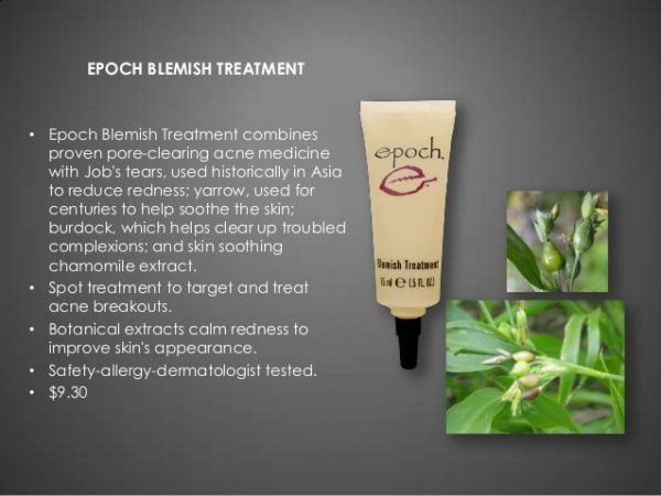 Epoch acne medication blemish treatment