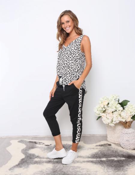 Leopard Stripe Pants