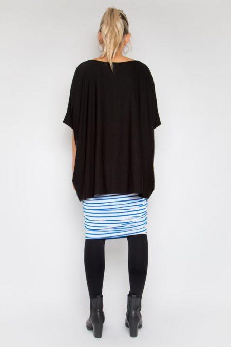Black Rayon Top