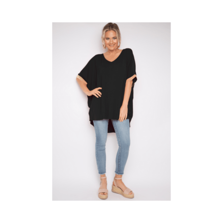 Black Sequinned Miracle Top (BAMBOO)
